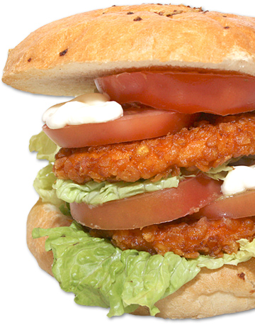 Hamburguesa DOBLE POLLO CRISPY 200 gr.